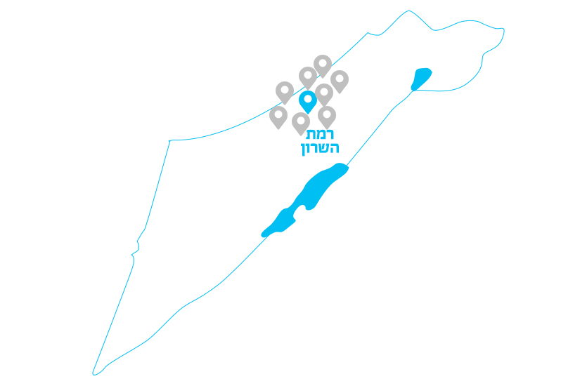 ramat-hasharon-map